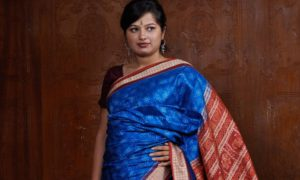 Sonepur Blue Silk Saree-big